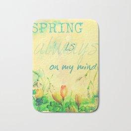 Spring is on my mind Bath Mat