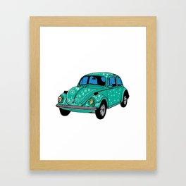 Hippie Car Mandala elements Framed Art Print