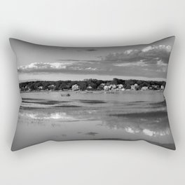 Annisquam river reflections #2 Black and white Rectangular Pillow