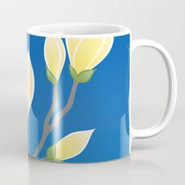 Yellow Magnolia, Flowering Springtime Branch Coffee Mug