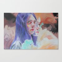 in the flesh Canvas Prints featuring 200513 // flesh on flesh on flesh by ----