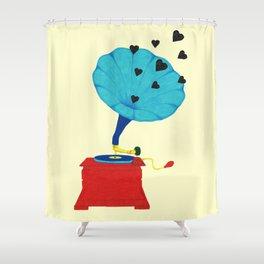 Gramophone Love Shower Curtain