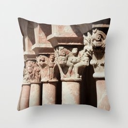 Carved Columns Throw Pillow