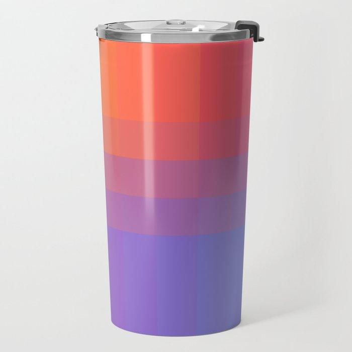 Squares and Stripes Four Travel Mug