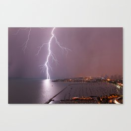 The Right Strike Canvas Print