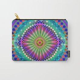 Rainbow Mandala Sacred Geometry 2 Carry-All Pouch