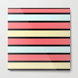 Color band 70's - Formica Stripe Metal Print