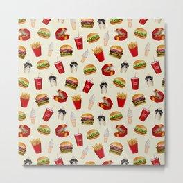 Fast Food Burgers, Fries, Sundaes Metal Print