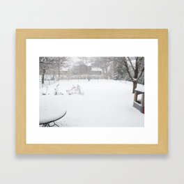 the backyard Framed Art Print
