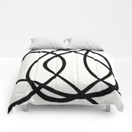 Community - Black and white abstract Comforters
