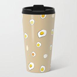 Egg Pattern Sand Art Print Cartoon Egg Yolks Modern Style Travel Mug