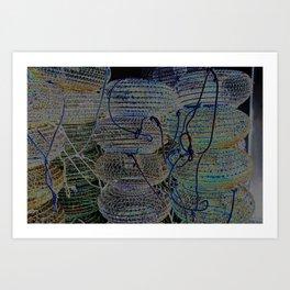 Blue earth shellfish Art Print