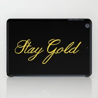 stay gold iPad Cases featuring Stay Gold by bitobots