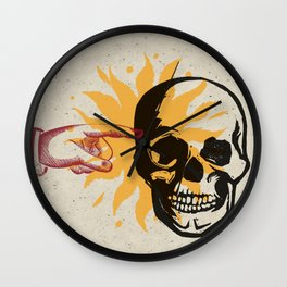 Skull - Remeber to Think Wall Clock