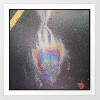 Halloween Gas Spill Art Print