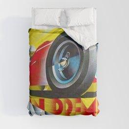 1949 Italian Grand Prix Ascari Motor Racing Vintage Poster Comforters