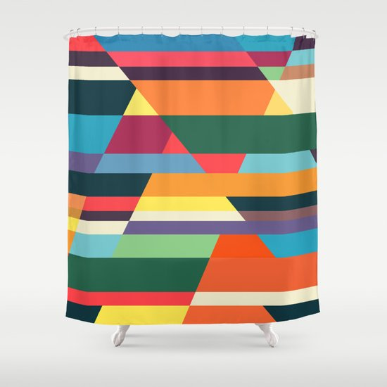 The hills run to infinity Shower Curtain