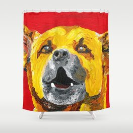 bus stop barker Shower Curtain