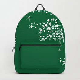 Sparkling Reindeer Pattern On Green Backpack