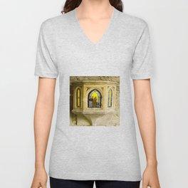 Nativity in Ancient Stone Wall Unisex V-Neck