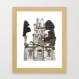 White-throated Sparrow at Old Water Tower Framed Art Print