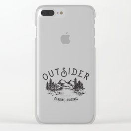 Outsider Clear iPhone Case