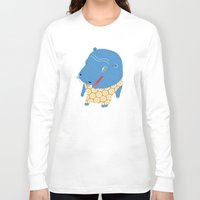 hippo Long Sleeve T-shirts featuring Hippo by Jennifer Nystedt