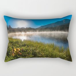 Morning Glory - Duck Swimming in Mountain Lake in Colorado Rectangular Pillow