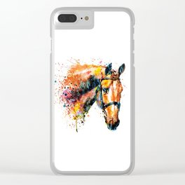 Colorful Horse Head Clear iPhone Case