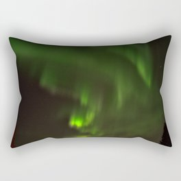 Northern lights in the North of Sweden Rectangular Pillow