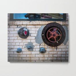 Shapes of Things, Street Photography Brick Firemen Accessories Metal Print