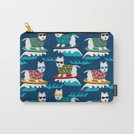 Westie surfing west highland terrier summer fun dog breed Carry-All Pouch