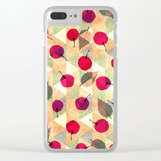 Sweet Cherries Clear iPhone Case