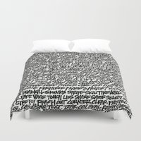 word Duvet Covers featuring Word by Abstractink82
