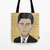 kafka Tote Bags featuring Kafka by Pendientera
