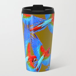 GREEN JUNGLE BLUE MACAW PARROTS Travel Mug