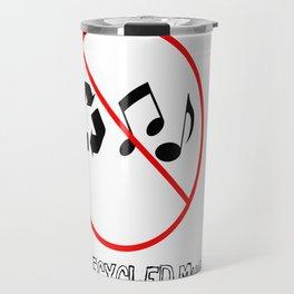 No recycled Music Travel Mug