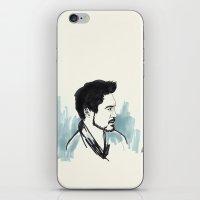 robert downey jr iPhone & iPod Skins featuring Robert Downey Jr. by anazhinka