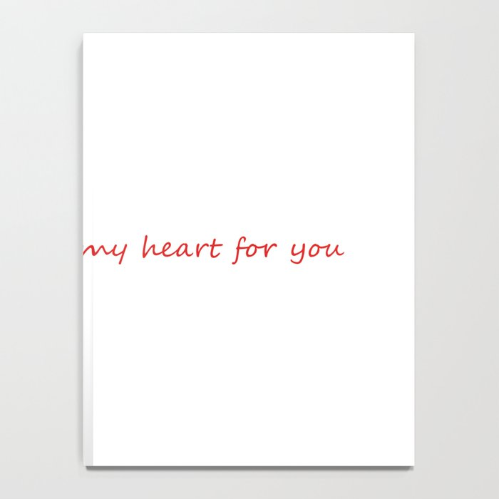 Abstract Heart Notebook