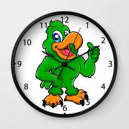 Parrot bird Wall Clock
