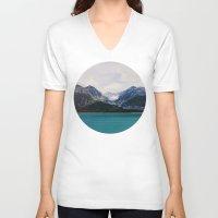 alaska V-neck T-shirts featuring Alaska Wilderness by Leah Flores