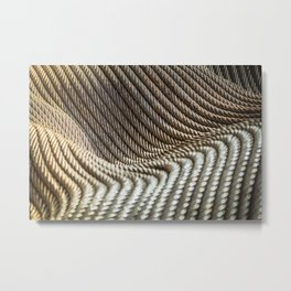 Coiled Lines Metal Print