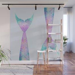 mermaid tail (purple & green) Wall Mural