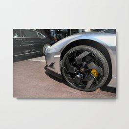 Carbon Fibre Metal Print