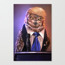 Election 2016 - Donowl Trump Canvas Print