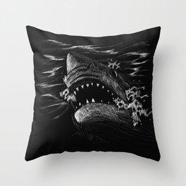Great White 5 Throw Pillow