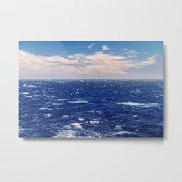 Brave ocean. Windy high sea Metal Print
