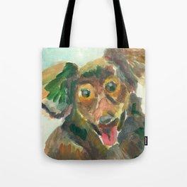 Jumpy Puppy Tote Bag