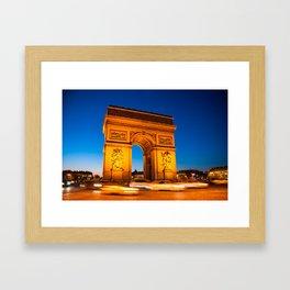 Arc de Triomphe // Paris, France Framed Art Print