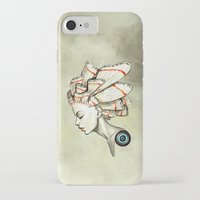 freeminds iPhone & iPod Cases featuring Moth 2 by Freeminds